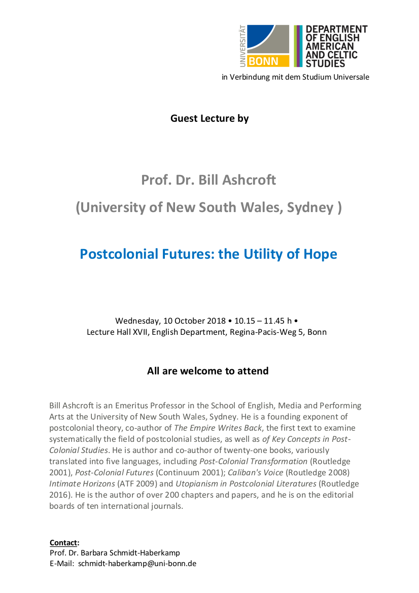 Postcolonial Futures: The Utility of Hope – Public Guest